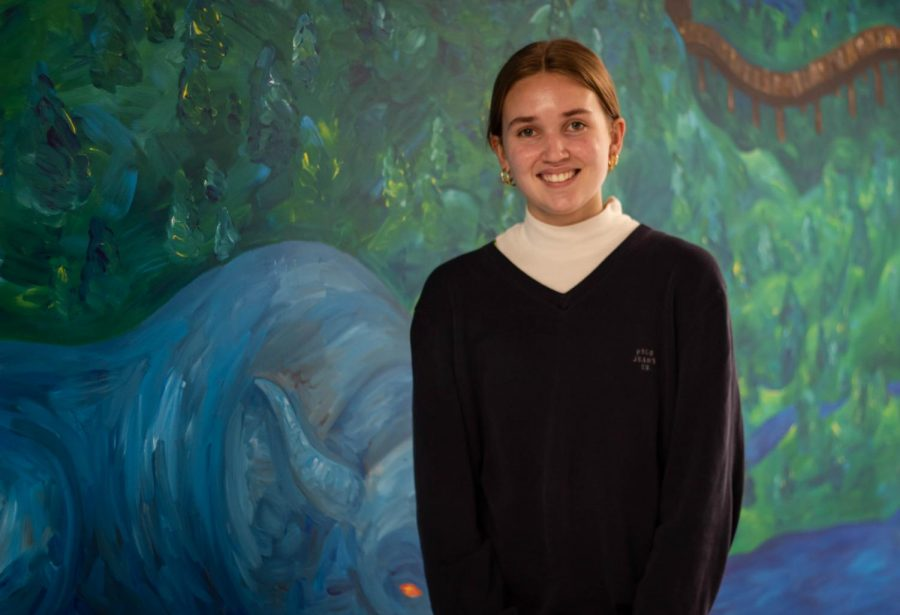 Senior Bella Bolins status as a valedictorian is a result of her focus and determination.
