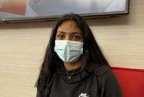 Freshman Hannah Antonio hopes to go to med school.