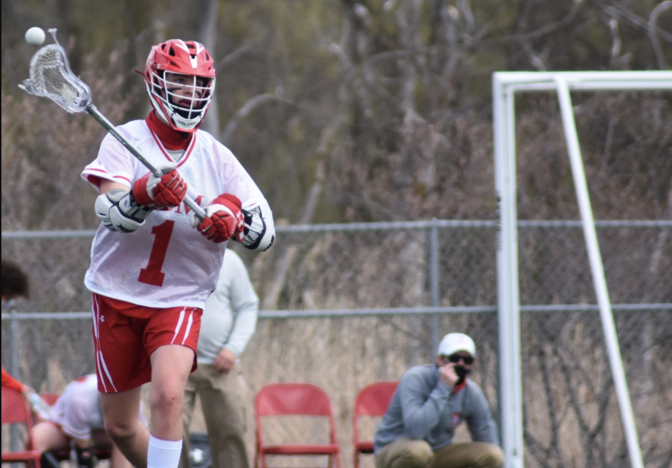 Sophomore Carson Brandt made the leap from youth lacrosse to varsity: a unique experience caused by the cancellation of last year