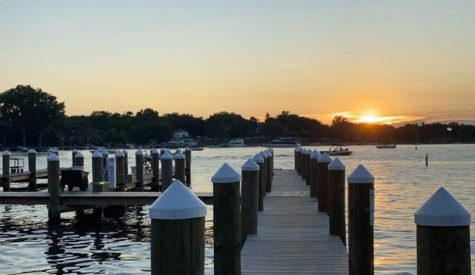 The lake stays a top choice for students to spend their time in the summer.