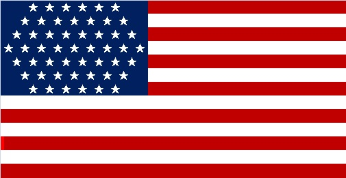 If Washington DC became a state, the new US flag might look something like this.