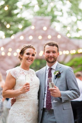 English teacher Callianne Olson and technology director Bill Cheney celebrated their wedding this past summer.