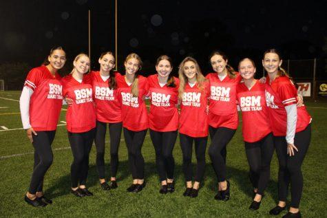 The senior Knightettes on the BSM football field.
