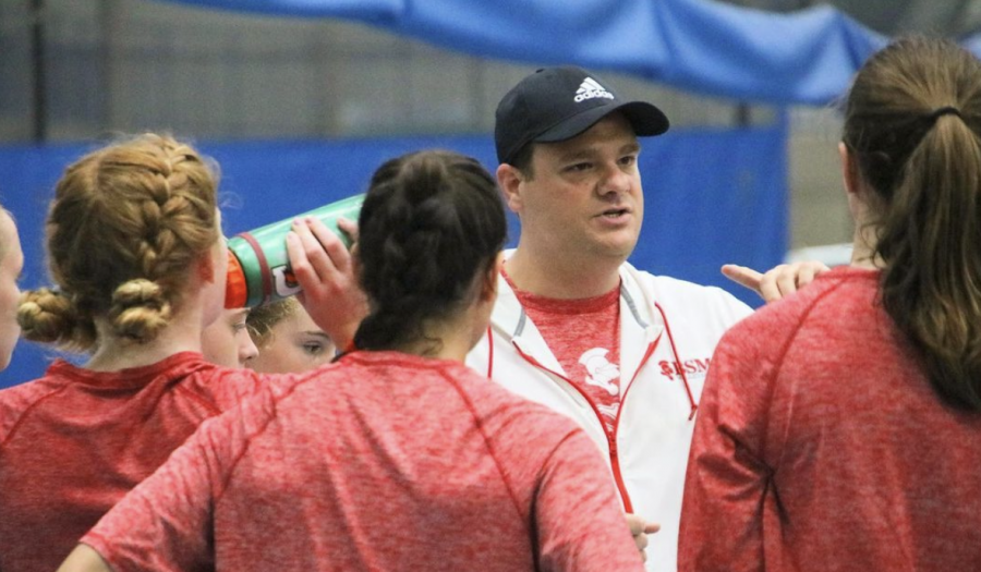 Mr. Becker, coach of the BSM girls volleyball team, has found a way to weave together sports and faith in the classroom.