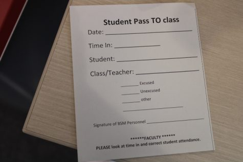 If a BSM student is late to class, they need a Student pass TO class pass.