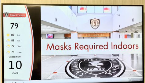 Masks Required Indoors used to read across the tvs throughout BSM.